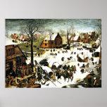 Recenseamento em Bethlehem, Pieter Bruegel a arte  Poster