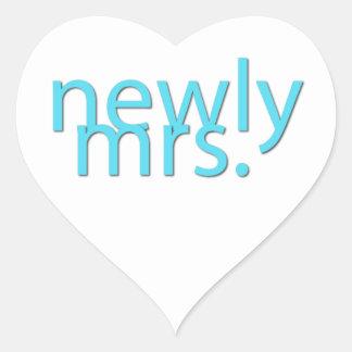 Recentemente Sra. Adesivo Coração