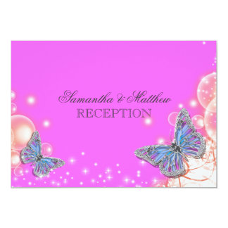 Recepção de casamento azul roxa cor-de-rosa da convite 12.7 x 17.78cm