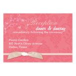Recepção de casamento cor-de-rosa coral da fita do cartão de visita grande