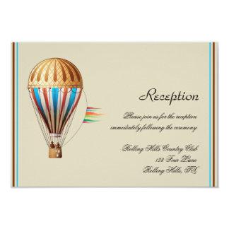 Recepção de casamento do balão de ar quente do convite