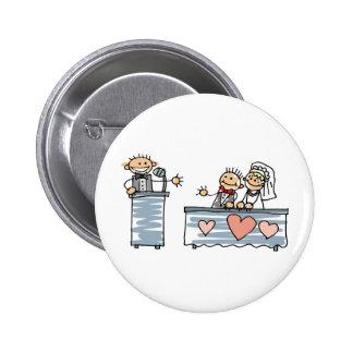 Recepção de casamento do brinde do homem do melhor boton