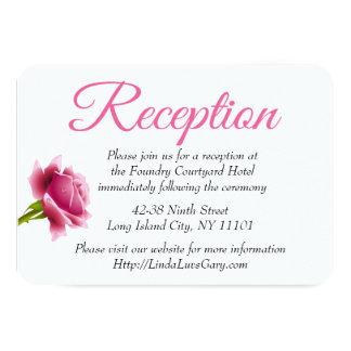 Recepção de casamento floral do rosa do rosa convite 8.89 x 12.7cm