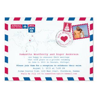 Recepção do cargo do correio aéreo do recem convite 12.7 x 17.78cm