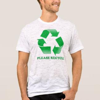 Recicl por favor a T-camisa da neutralização Camiseta
