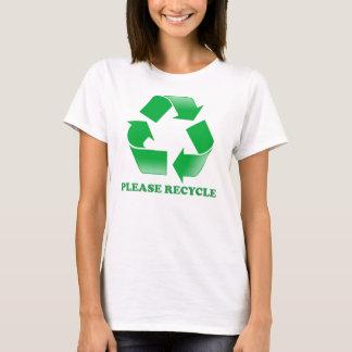 Recicl por favor camiseta