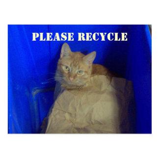 Recicl por favor o cartão