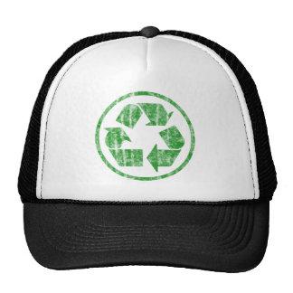 Reciclagem para salvar a terra do planeta, símbolo boné