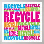 Reciclar colorido posteres