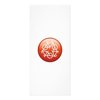 reciclar-vermelho 10.16 x 22.86cm panfleto