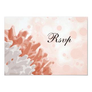 Recife coral e branco convite 8.89 x 12.7cm