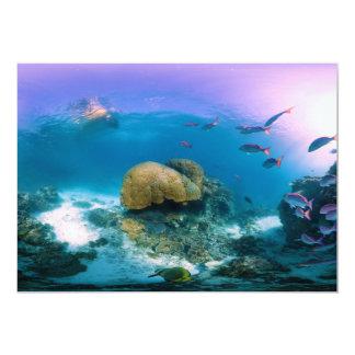 Recife de corais perto da ilha da garça-real