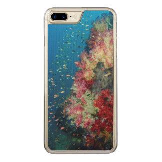 Recife de corais subaquático, Indonésia Capa iPhone 8 Plus/ 7 Plus Carved