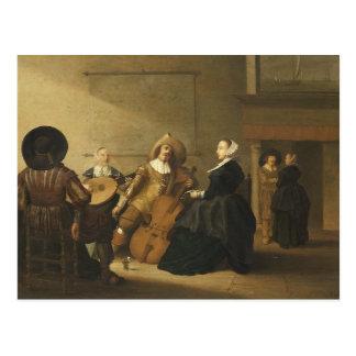 Recolhimento musical pelo oleiro de Pieter Symonz Cartão Postal