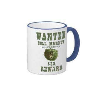 Recompensa do mercado em alta caneca com contorno