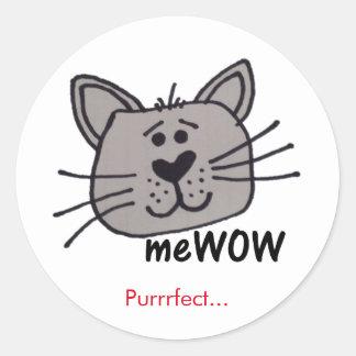Recompensa do trabalho do meWOW do gato etiqueta