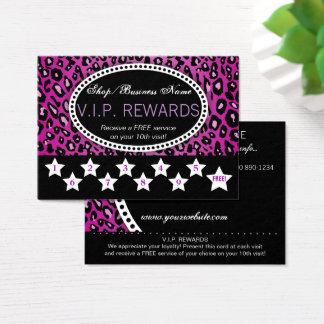 Recompensas da lealdade da visita do impressão cartão de visitas
