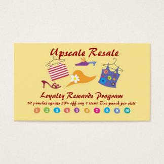 Recompensas do cliente cartão de visitas