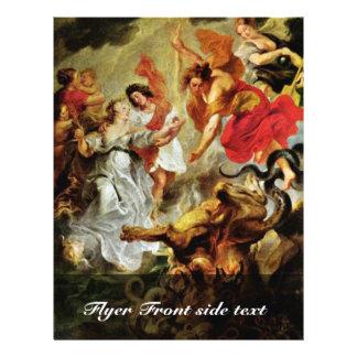 Reconciliação de Louis e de Mary por Rubens Peter  Panfletos Personalizado