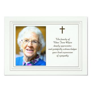 Reconhecimento da simpatia com foto convite 8.89 x 12.7cm