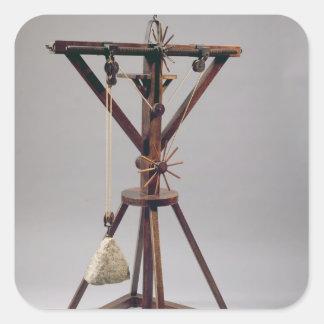 Reconstrução do design de da Vinci Adesivo Quadrado
