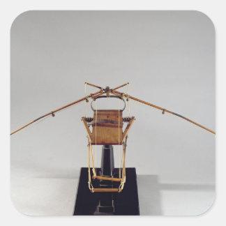 Reconstrução modelo do design de da Vinci Adesivo Em Forma Quadrada