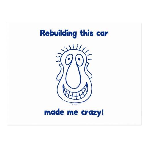 Reconstruindo um carro velho cartao postal