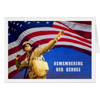 Recordando nossos cartões das forças armadas dos
