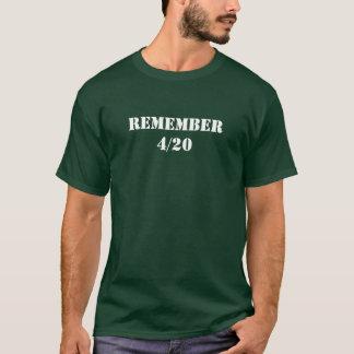 Recorde 4/20 camiseta