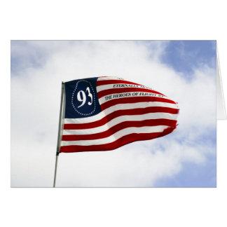 Recorde 9/11 - Vôo 93 Cartão Comemorativo