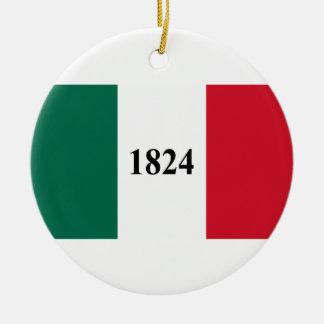 Recorde a bandeira do estado de Alamo Texas Ornamento De Cerâmica Redondo