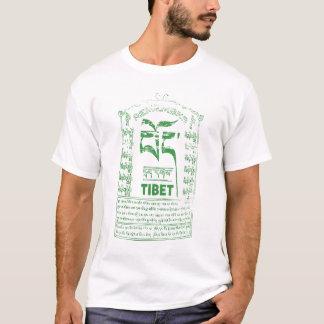 Recorde a camisa verde do logotipo de Tibet