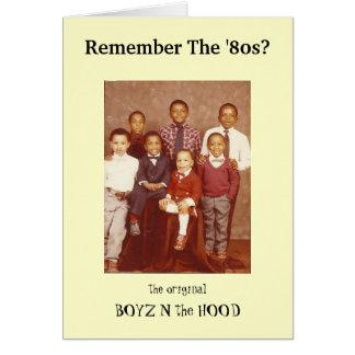Recorde o anos 80? Cartão da capa de Boyz N