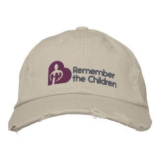Recorde o chapéu básico das crianças boné bordado