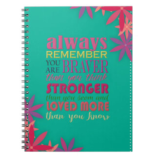 Recorde sempre que você é - espiral caderno