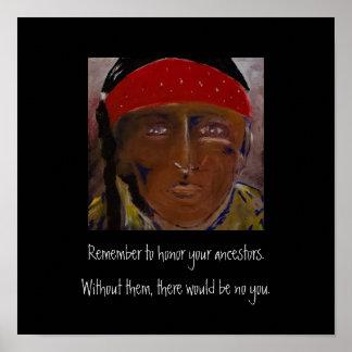 Recorde seus antepassados pôster