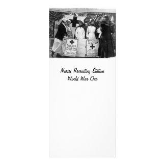 Recrutamento das enfermeiras 10.16 x 22.86cm panfleto