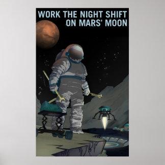 Recrutamento de Marte - poster do turno da noite