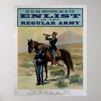 Recrute no exército profissional pôster