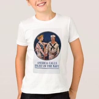 Recrute no marinho de E.U. - propaganda da guerra Tshirts