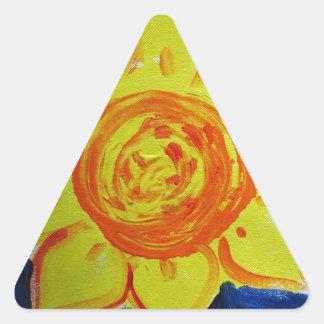 rectifique à natureza adesivo triangular