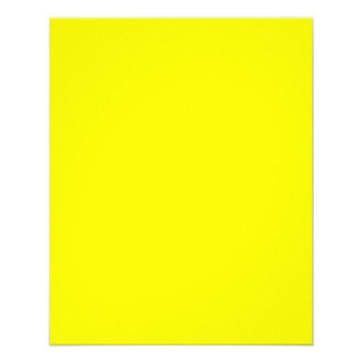 Rectifique o prazer amarelo de Fluo pronto para Panfletos Coloridos