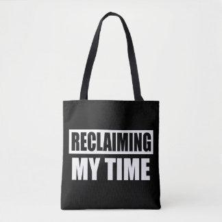 Recuperando meu saco de bolsas do slogan do tempo