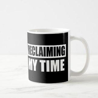 Recuperando minha caneca do slogan do tempo