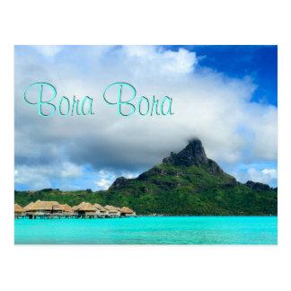 Recurso tropical no cartão de Bora Bora