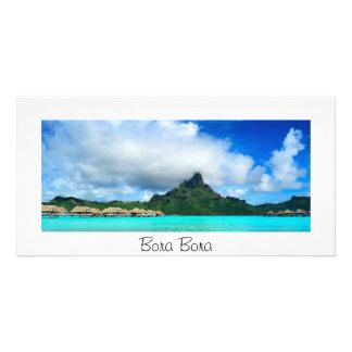 Recurso tropical no cartão do panorama de Bora