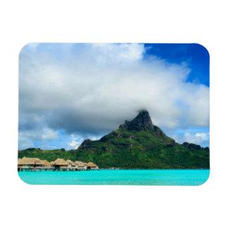 Recurso tropical no ímã retangular de Bora Bora