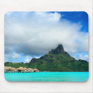 Recurso tropical no mousepad de Bora Bora