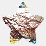 Recursos canadenses - costas do brilho do ouro adesivo estrela