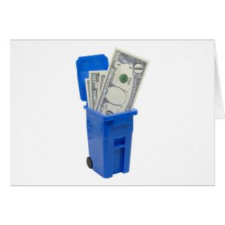 RecycleNoMoney053109 Cartão Comemorativo